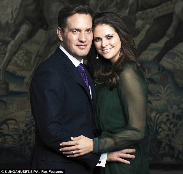 Princess Madeleine and Chris O'Neill's engagement photo.