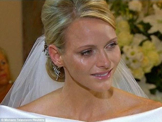 Princess Charlene Wedding Crying