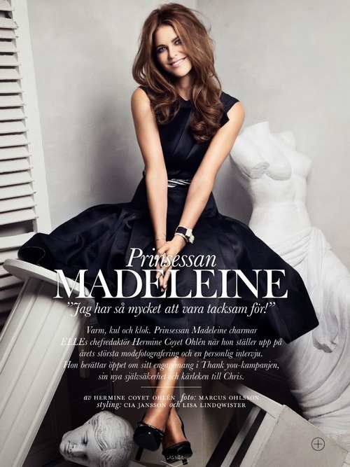 Princess Madeleine in Elle Sweden.
