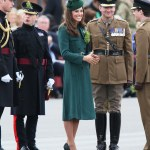 The Duchess of Cambridge Presented Shamrocks In New Hobbs Coat Dress