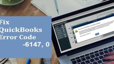 Photo of Ways to Fix QuickBooks error 6147