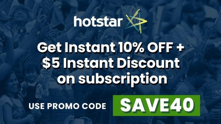 Hotstar promo Code IPL 2020: SAVE40