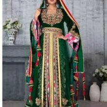 Photo of Moroccan Kaftan Wedding Dress with Hand Embroidered Moroccan Traditions
