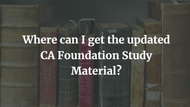 Photo of Where Can I Get The Updated CA Foundation Study Material?