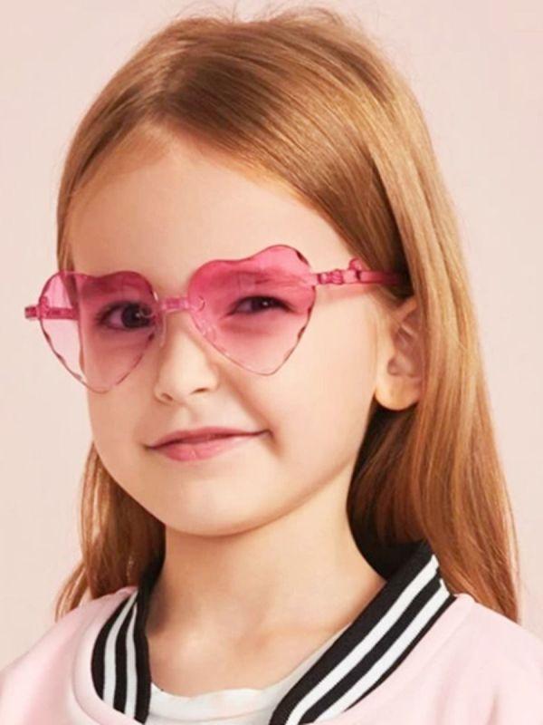 Kid Girl Love Heart Frame Sunglasses