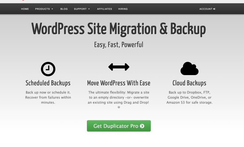 duplicator pro WordPress plugin download