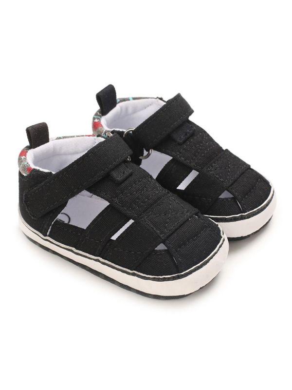Baby Boy Plain Close Toe Roman Sandals