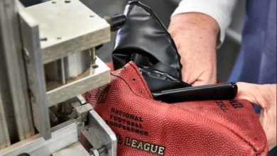 how to make NFL football using cow's hide