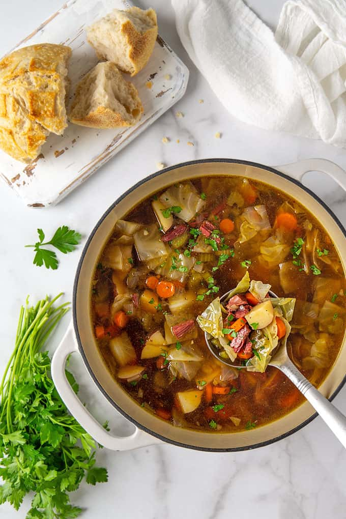 Easy Corned Beef and Cabbage Soup | The Blond Cook