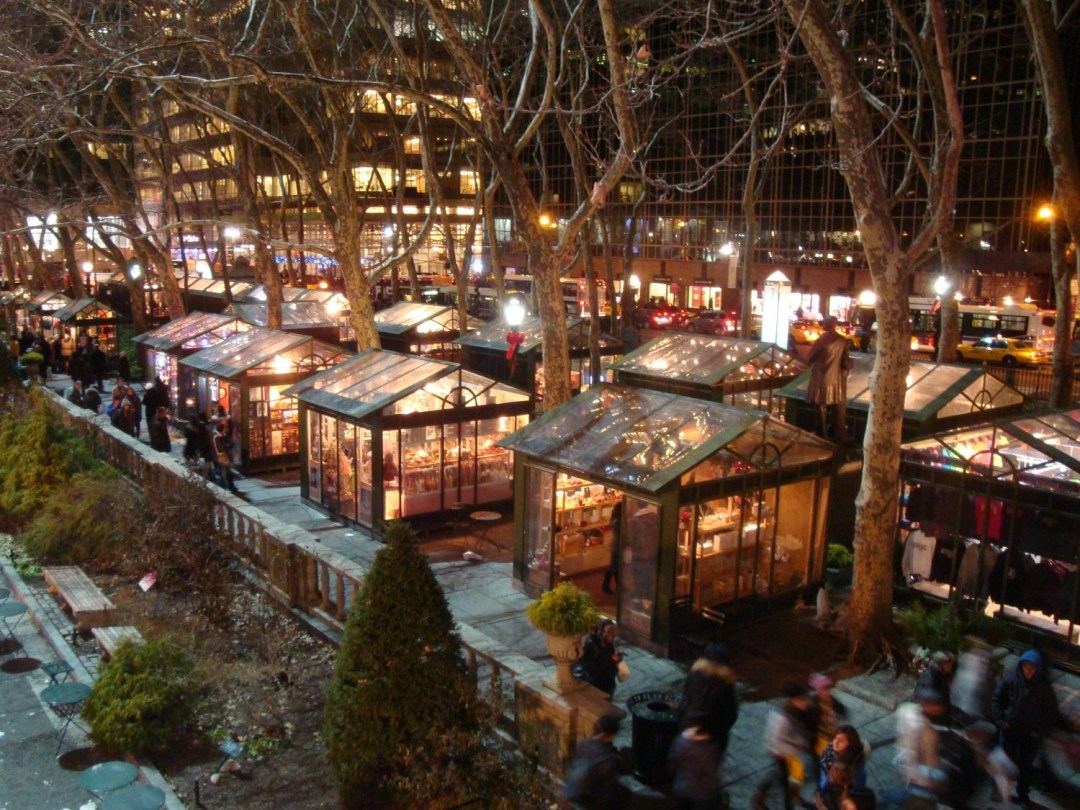 Bryant Park in New York at Christmas