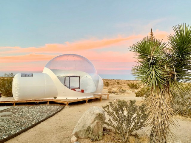 joshua tree bubble airbnb