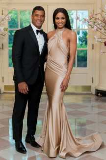 Russell Wilson and Ciara at the White House via: http://nymag.com/thecut/2015/04/ciara-looked-undeniably-great-last-night.html