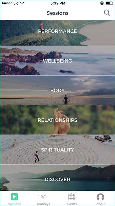 Mindbliss-Meditations-iPhone-App-Categories