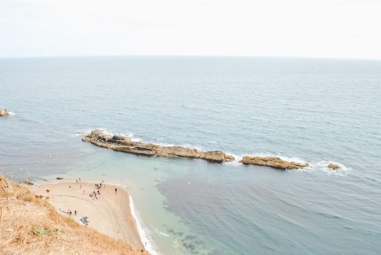 Dorset Jurassic Coast coastline with beach and shore