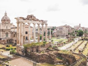 The Roman Forum ruins in Rome