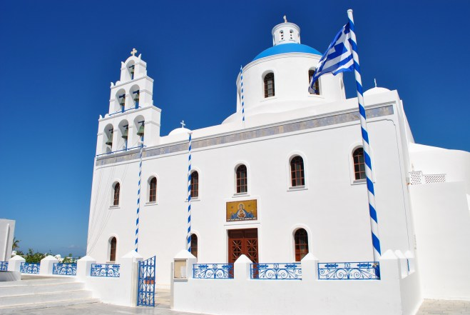 Cathedral in Oia.
