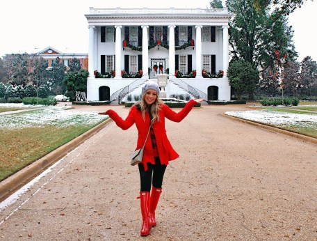 Snow day at school! Presidents Mansion.