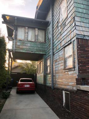 exterior paint scrape