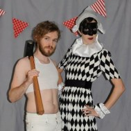 Halloween. I was a harlequin (Arlecchino). Joe was a more culturally relevant Mily Cyrus.