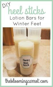 DIY Heel Sticks (aka Lotion Bars) | The Blooming Carrot