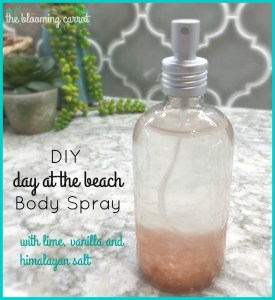 DIY 'Day at the Beach' Body Spray Recipe | The Blooming Carrot