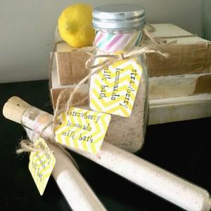 Strawberry Lemonade Milk Bath Recipe   DIY Gifts