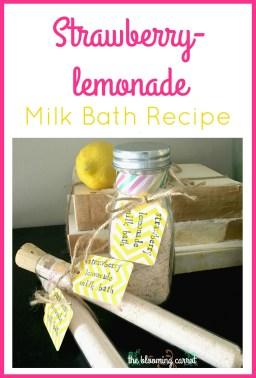 Strawberry Lemonade Milk Bath Recipe   The Blooming Carrot