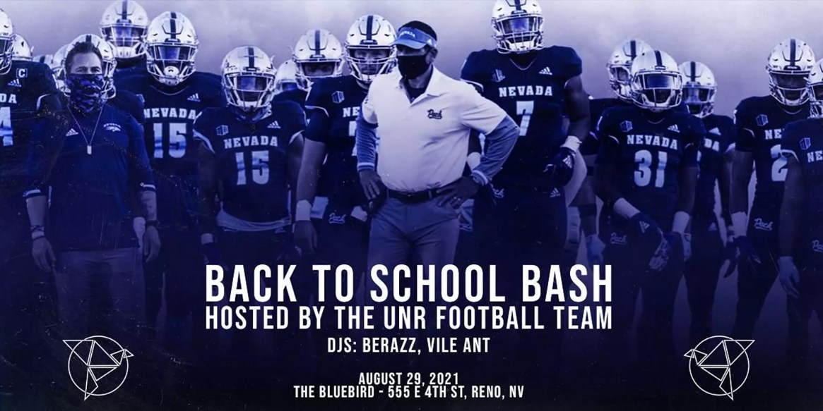 Back to School Bash Hosted by the UNR Football team