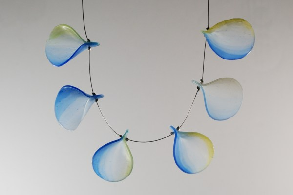 Necklace with translucent leaves created with Pardo Professional Art Clay.