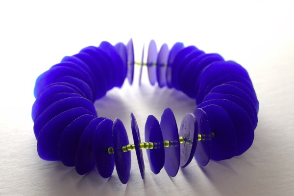 Cobalt blue bracelet made with Pardo Translucent Art Clay.