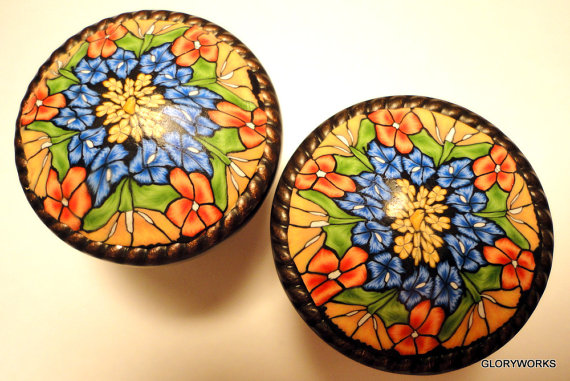 polymer clay covered cabinet knobs by gloryworks