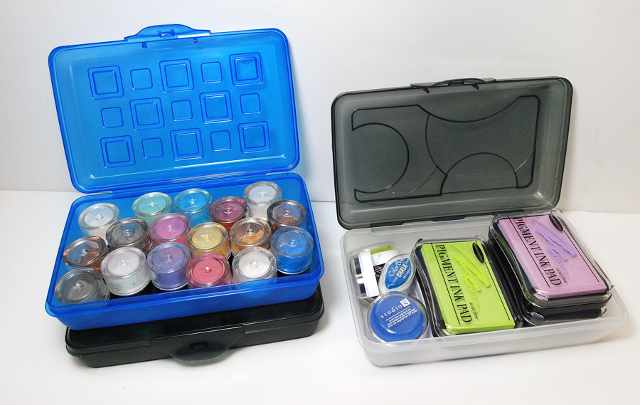 School Supplies offer wonderful things for the crafter. Use Pencil Boxes for storage of small things in your craft studio.