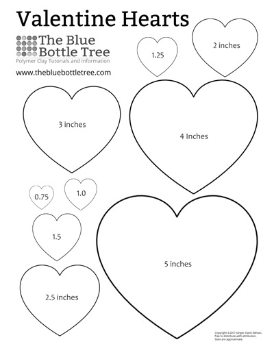 image about Printable Valentine Hearts identified as Valentine Middle Printable ClipArt - The Blue Bottle Tree