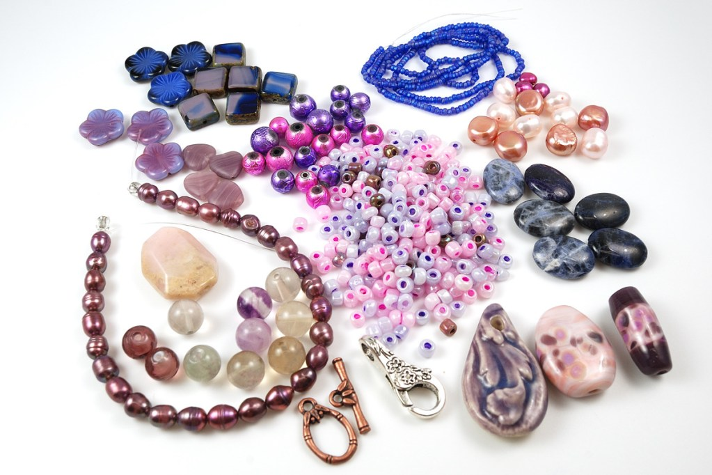 Here is what I received for the Bead Soup Blog Party from Jean Wells.