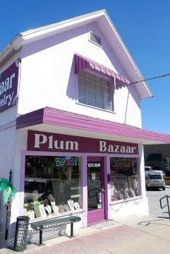 Plum Bazaar is a bead shop in downtown Branson, Missouri. It's very much worth a visit.
