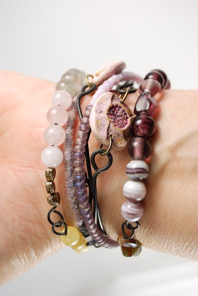 Tribal Bangle Stack for the 8th Bead Soup Blog Party by Ginger Davis Allman of The Blue Bottle Tree.