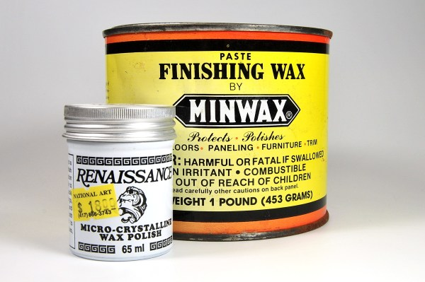 Renaissance wax functions exactly like paste wax for use on polymer clay. But it's much cheaper.