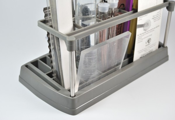 The back of the Sculpey Tool Organizer.