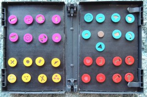 Storing the Lucy Disks with magnets by Chrissie