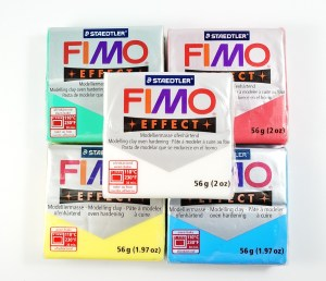 Fimo makes a line of colored translucent polymer clay. See more at The Blue Bottle Tree.