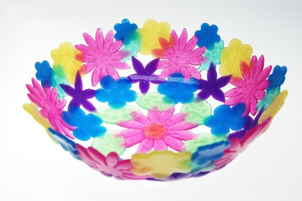 Bowl made from Pardo colored translucent polymer clay.