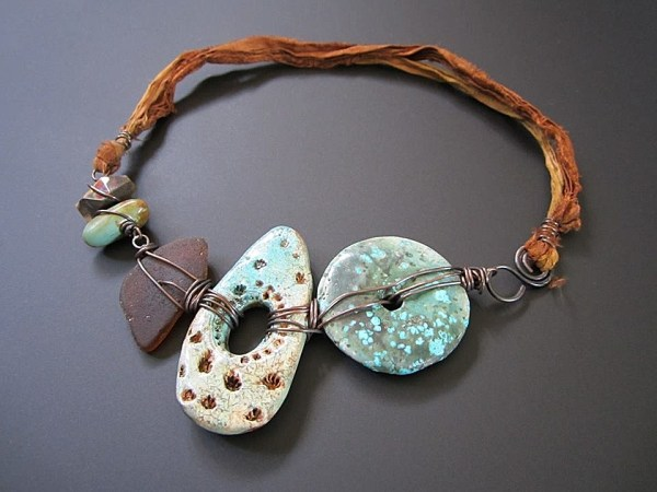 Staci Louise Smith necklace with polymer beads