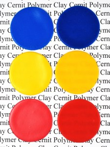 Cernit polymer clay darkens during baking, some colors more than others.