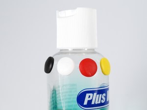 PVC bottle tested with polymer clay samples.