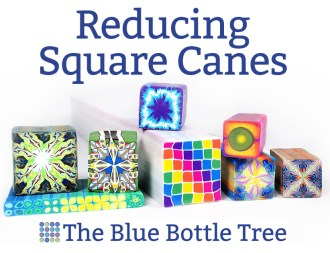 Do you have difficulty reducing square canes without distortion? Learn about using square rods as a guide for neatly reducing square polymer clay canes.