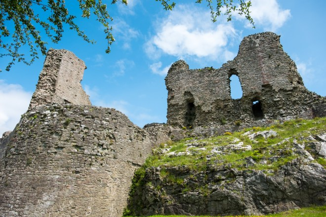 Montgomery Castle, in Powys, Wales.