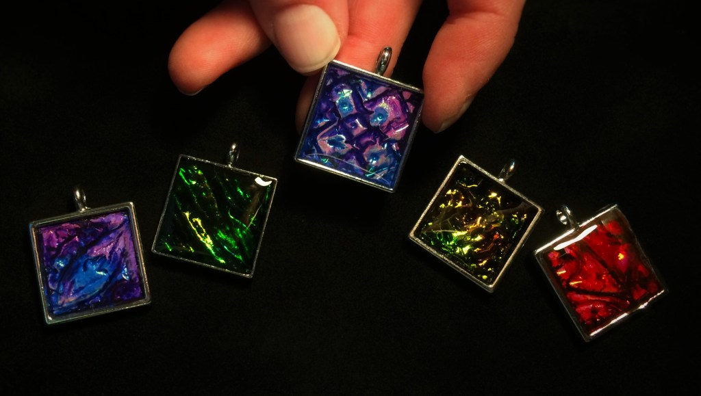 Holo Pendants by Jennifer Sorensen of Wishing Well Workshop