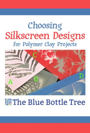 Learn about choosing silkscreens designs for polymer clay projects.