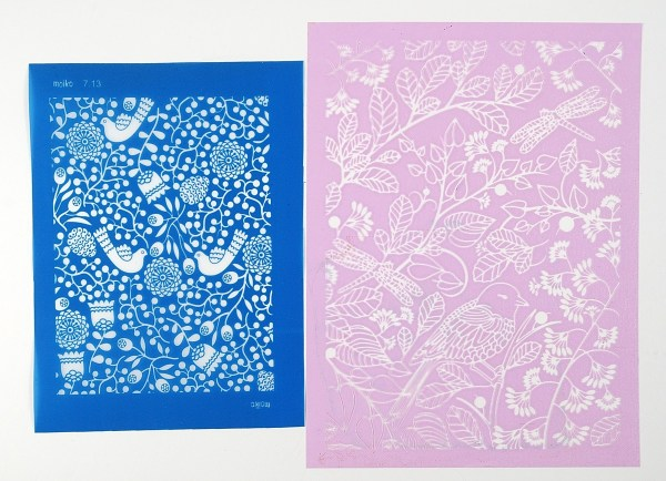 Consider the style when choosing silkscreen designs for polymer clay projects.