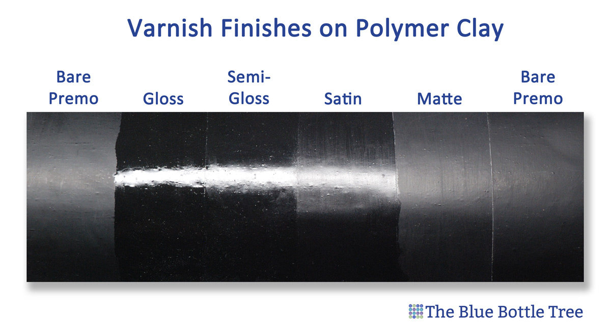 Gloss levels in polymer clay varnish the blue bottle tree - Satin vs semi gloss ...